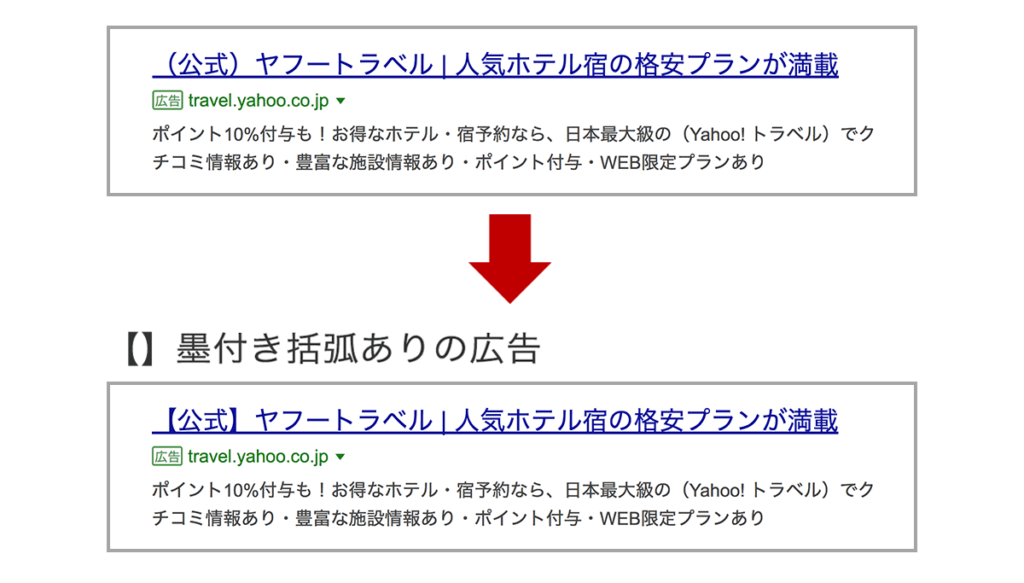 Yahoo! 隅かっこ
